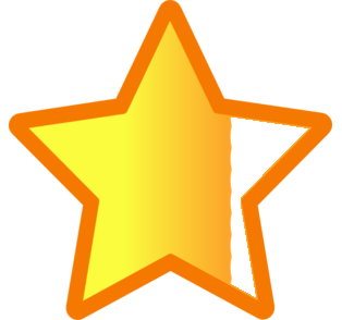 three quarter star graphic